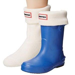 🆕Hunter Kids Original Boot Sock Big Kid Cream XL
